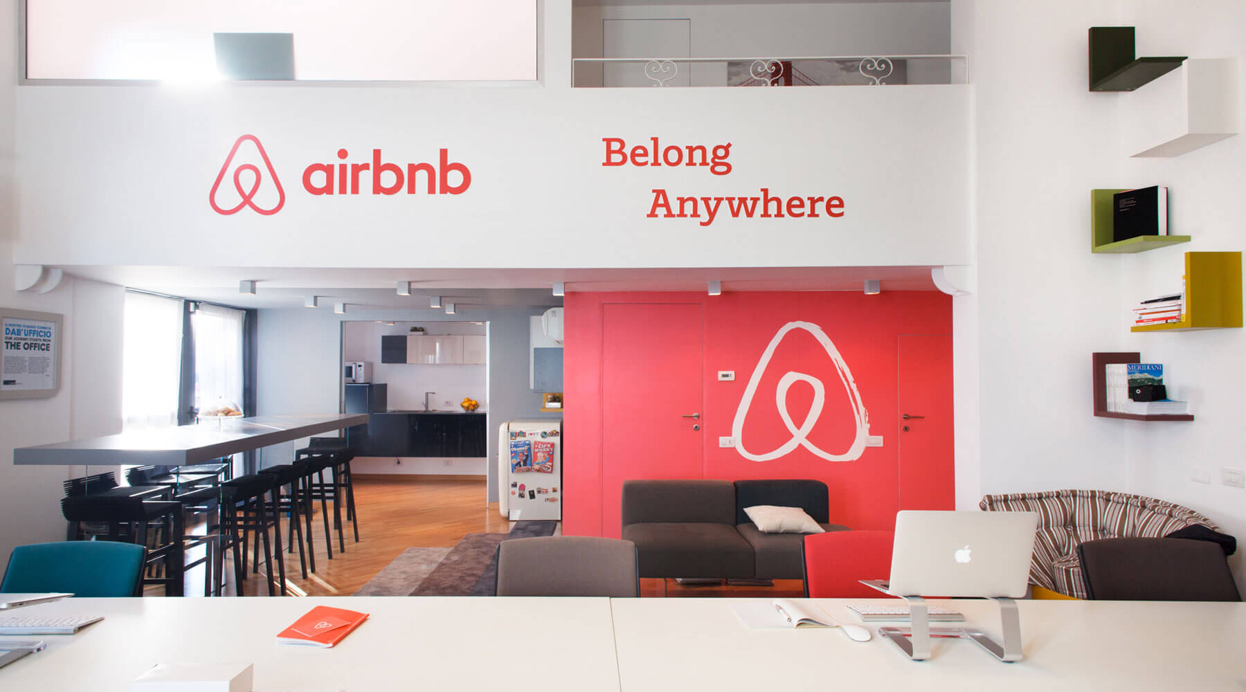 "Airbnb mission statement is: ""Is to live in the world where one day you can feel like you're home anywhere & not in a home, but truly home, where you belong."""