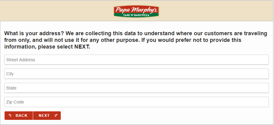papasurvey.com survey