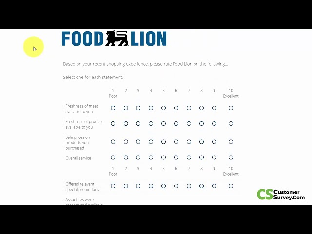 talktofoodlion.com groceries sweepstakes